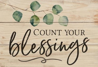 Count Your Blessings, Mini Sign  -