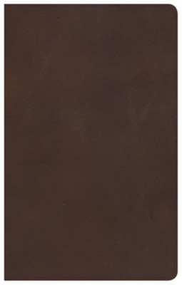KJV Ultrathin Reference Bible--genuine leather, brown  -