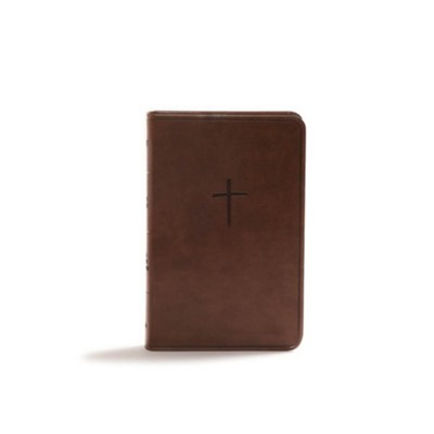 CSB Compact Bible, Value Edition--soft leather-look, brown  -