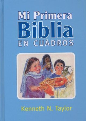 Mi Primera Biblia en Cuadros, Azul  (My First Bible in Pictures, Blue)  -