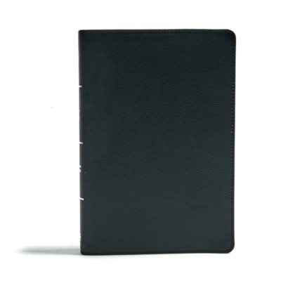 CSB Giant Print Reference Bible--genuine leather, black (indexed)  -