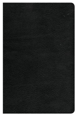 CSB Large-Print Personal-Size Reference Bible--genuine leather, black  -