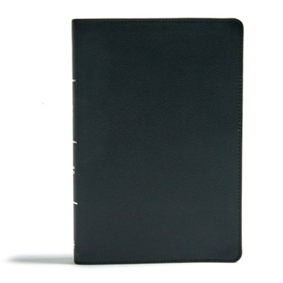 CSB Super Giant-Print Reference Bible--genuine leather, black (indexed)  -