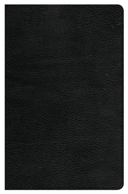 CSB Ultrathin Reference Bible--genuine leather, black  -