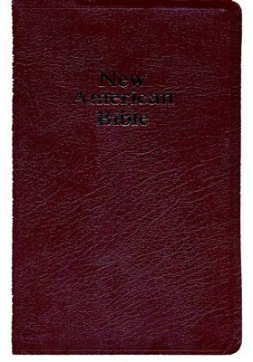 NABRE Deluxe Gift Bible, Bonded Leather, Burgundy  Indexed  -