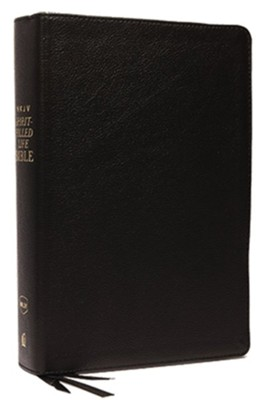 NKJV Comfort Print Spirit-Filled Life Bible, Third Edition, Genuine Leather, Black Indexed  -     By: Jack Hayford
