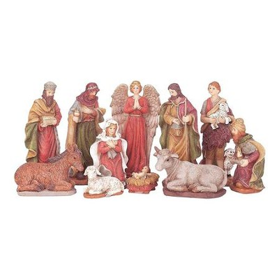 Nativity Set, Sparkle Frost, 11 Pieces, 5 Inches  -