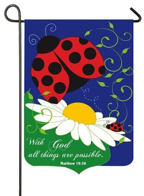 With God, All Things Are Possible, Applique Flag, Small  -