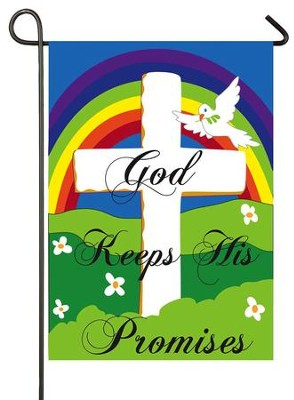 God Keeps His Promises, Applique Flag, Small  -