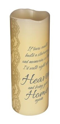 Abiding Light LED Candle, Vanilla Scented, Heaven's Tears, 8x3  -