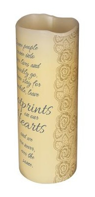 Some people leave footprints on our hearts - LED scented candle   -