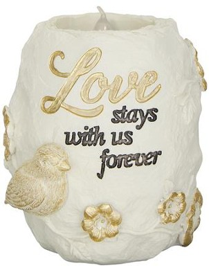 Love Stays With Us Forever, LED Tealight Holder  -