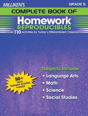 Milliken's Complete Book of Homework Reproducibles Grade 5  -