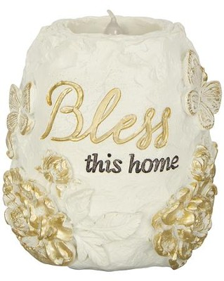 Bless This Home, LED Tealight Holder  -