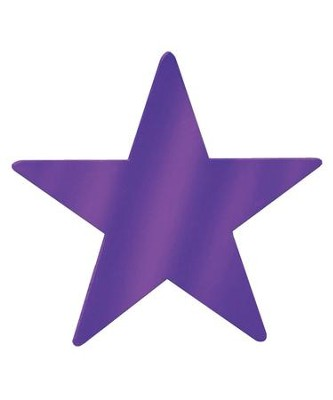 9-Inch Metallic Star, Purple   -