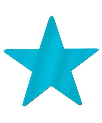 15-Inch Metallic Star, Teal   -