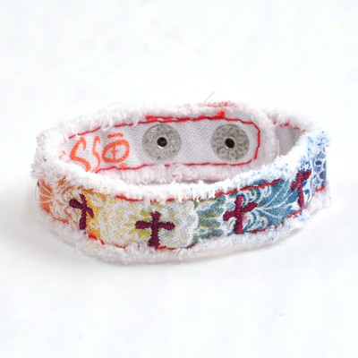 Canvas Bracelet, Crosses  -