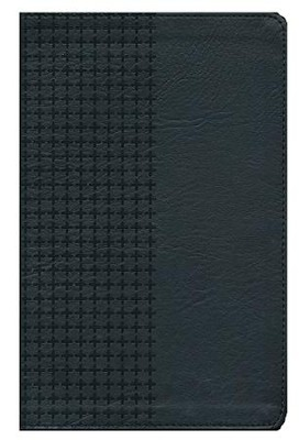 NKJV Personal Size Giant Print End of Verse Reference Bible, Imitation leather, black--indexed  -