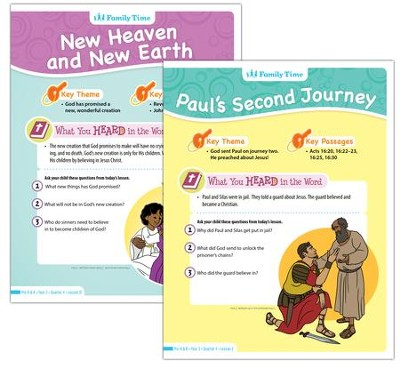 Answers Bible Curriculum Year 3 Quarter 1 Preschool & Kindergarten Student Take-Home Sheets  -