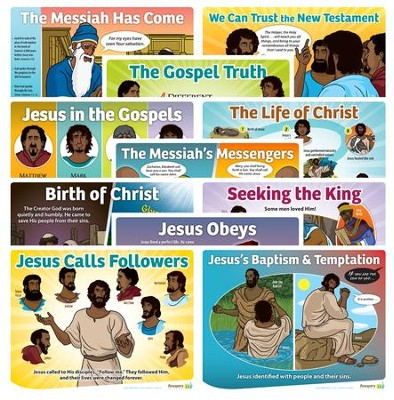 Answers Bible Curriculum Year 3 Quarter 1 Grades 1-6 Lesson Theme Posters Set of 11  -