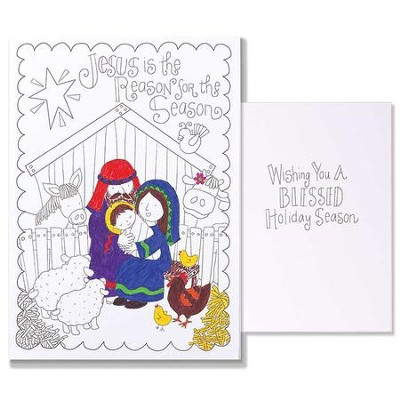 Jesus Is the Reason For the Season, Color Cards, Pack of 12  -