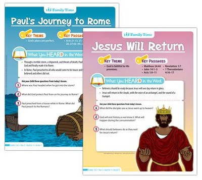 Answers Bible Curriculum Year 3 Quarter 1 Grades 1-2 Student Take-Home Sheets  -
