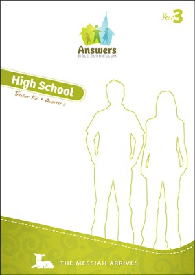 Answers Bible Curriculum Year 3 Quarter 1 High School Teacher Guide with DVD-ROM  -