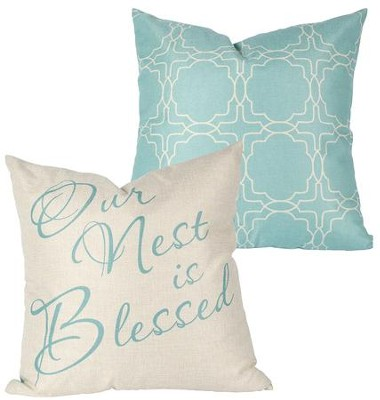 Our Nest Is Blessed Decorative Pillow  -