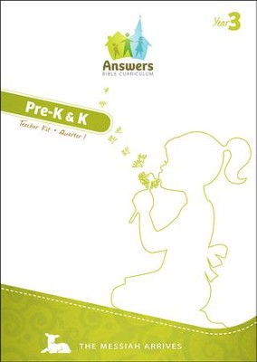Answers Bible Curriculum Year 3 Quarter 1 Preschool Teacher Kit  -