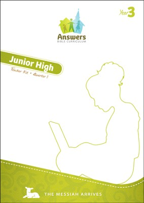Answers Bible Curriculum Year 3 Quarter 1 Jr. High Teacher Kit  -