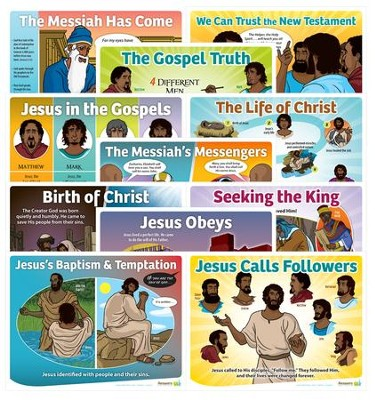 Answers Bible Curriculum Year 3 Quarter 2 Grades 1-6 Lesson Theme Posters Set of 11  -