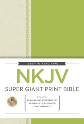 NKJV Super Giant Print Reference Bible, hardcover  -