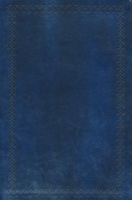 NKJV Super Giant Print Reference Bible, Leathersoft, Rich Navy  -