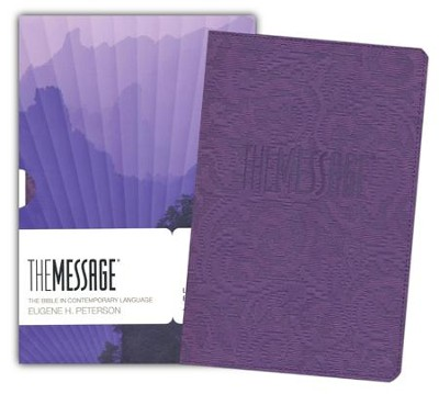 The Message Bible, Lavender Embossed, Text Bible, Imitation Leather    -     By: Eugene H. Peterson