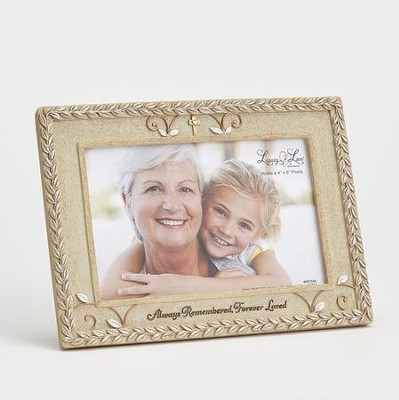 Bereavement Photo Frame, Always Remembered, Forever Loved  -     By: Kim Lawrence