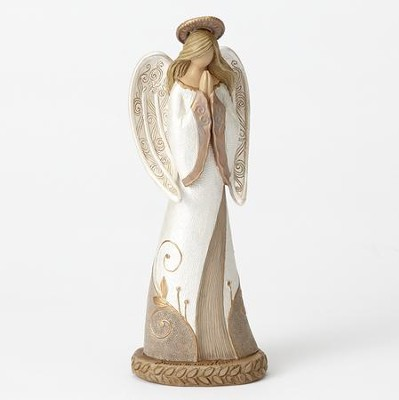 Bereavement Praying Angel Figurine, Forever In Our Hearts  -     By: Kim Lawrence