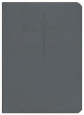 KJVer (Easy Reader) Large Print Sword Study Bible, Personal Size, Ultrasoft Black, Thumb Indexed  -