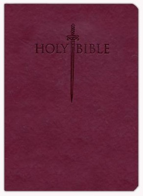 KJVer (Easy Reader) Large Print Sword Study Bible, Personal Size, Ultrasoft Burgundy, Thumb Indexed  -