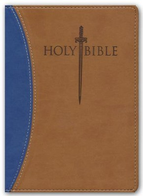 KJVer (Easy Reader) Large Print Sword Study Bible, Personal Size, Ultrasoft Blue/Tan  -