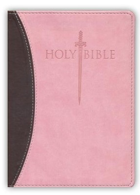 KJVer (Easy Reader) Large Print Sword Study Bible, Personal Size, Ultrasoft Chocolate/Pink  -