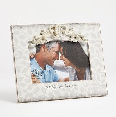 God Bless Our Anniversary Photo Frame  -     By: Kim Lawrence