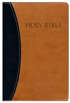 KJVer (Easy Reader) Personal Size Bible, Ultrasoft Black/Tan, Thumb Indexed  -