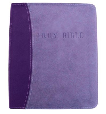 KJVer (Easy Reader) Large Print Thinline Bible, Ultrasoft Dark Purple/Light Purple, Thumb Indexed  -