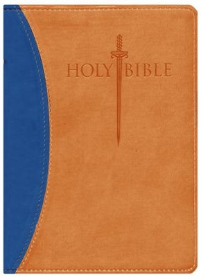 KJV Large Print Sword Study Bible, Ultrasoft Blue/Tan  -