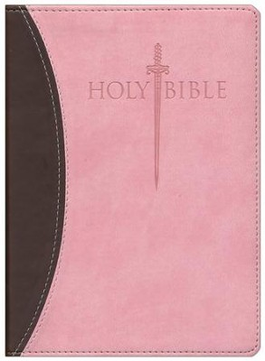 KJV Large Print Sword Study Bible, Ultrasoft Chocolate/Pink, Thumb Indexed  -