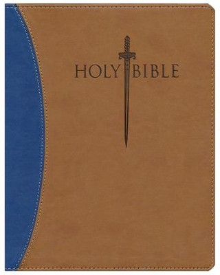 KJV Giant Print Sword Study Bible, Ultrasoft Dark Brown/Light Brown, Thumb Indexed  -
