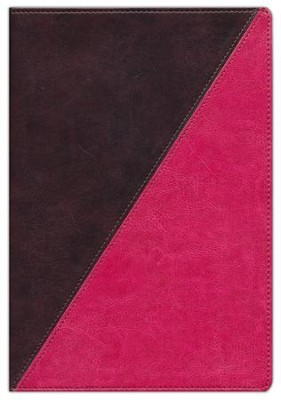 NKJV Study Bible, Full-Color Leathersoft Rich Raspberry & Rich Mahogany Indexed  -
