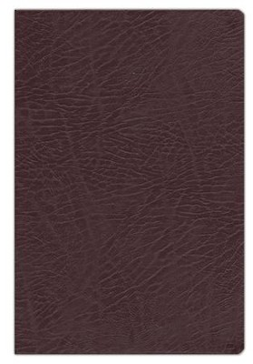 NKJV Full-Color Study Bible, Bonded Leather, Burgundy, Indexed   -