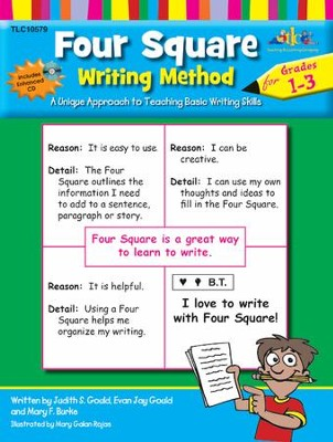 Four Square: Writing Method Grades 1-3 with Enhanced CD-ROM  -     By: Judy Gould, Evan Jay Gould, Mary F. Burke