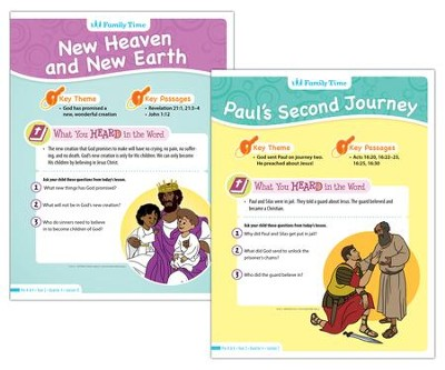 Answers Bible Curriculum Year 3 Quarter 4 Preschool  Student Take-Home Sheets  -